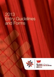 2013 Entry Guidelines and Forms - Gisborne Chamber of Commerce