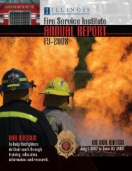 Fiscal Year 2008 - Illinois Fire Service Institute - University of Illinois ...