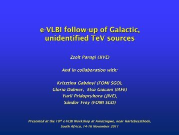 E-VLBI Follow-up of Galactic, Unidentified TeV Sources