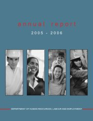 2005-06 Annual Report - Department of Advanced Education and ...