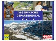 Observatoire départemental 2010 - Conseil Général de Haute-Savoie