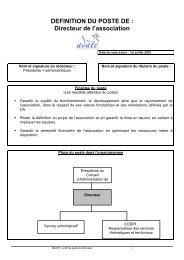 profil poste directeur - Rhône-Alpes Solidaires
