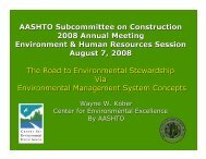 Center for Environmental Excellence by AASHTO