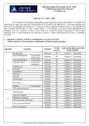 Edital PS 1º 2013 - Universidade Católica de Brasília