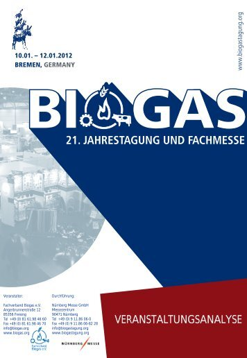 Biogas kann´s - BIOGAS Jahrestagung und Fachmesse