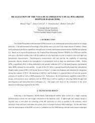 realization of the nasa dual-frequency dual-polarized doppler radar
