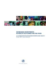 increasing investments in health outcomes for the poor