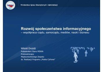 Rozwój społeczeństwa informacyjnego - Tr@nspod