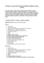 Zásady pro vypracování závěrečné bakalářské a diplomové práce ...