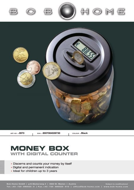 money box with digital counter - BOB HOME
