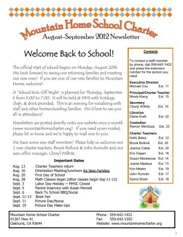 sign-up - Mountain Home School Charter