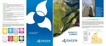 plegable Proyecto Guarinó - Isagen