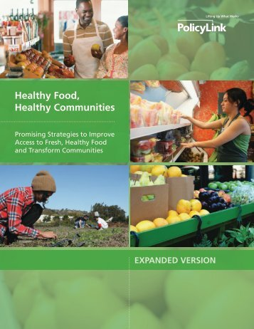 Promising Strategies to Improve Access to Fresh, Healthy Food and ...
