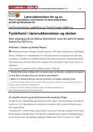 Fysik/kemi i læreruddannelsen og skolen - Folkeskolen