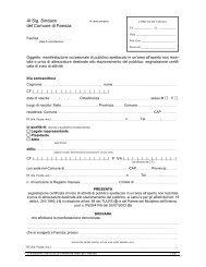 Segnalazione certificata di inizio attività per manifestazione ...