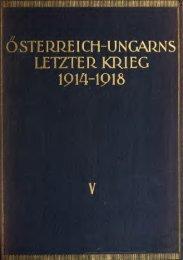 Österreich-Ungarns letzter Krieg 1914-1918;