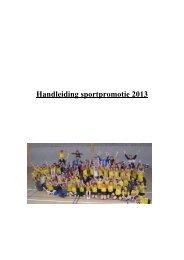 Handleiding sportpromotie - vhv handbalbase