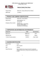 hxtal nyl-1 msds - His Glassworks
