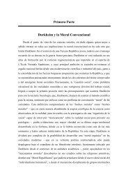 Primera Parte Durkheim y la Moral Convencional