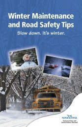 Winter Maintenance Booklet - Government of Nova Scotia