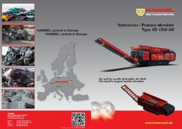 Vorbrecher / Primary shredder Type VB 1500 DK - Hammel.de