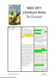 SNGS 2011 Literature Notes - ASKnLearn