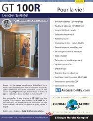 GT 100R - Global Tardif Groupe manufacturier d'ascenseurs
