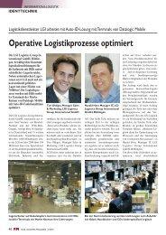 Operative Logistikprozesse optimiert