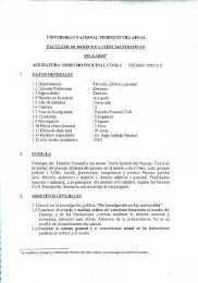 Syllabus Derecho Procesal Civil I - jorge andujar