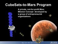 CubeSats-to-Mars Program