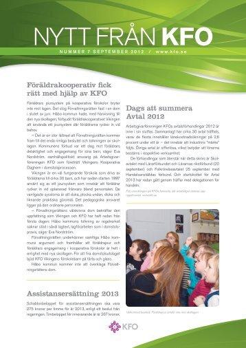 Nytt från KFO nr 7 - Arbetsgivarföreningen KFO