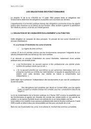 LES OBLIGATIONS DES FONCTIONNAIRES