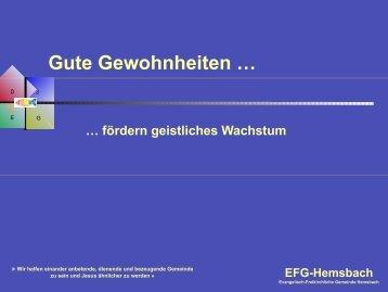 Geistliche Reife - EFG Hemsbach