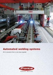 Automated welding systems - Fronius