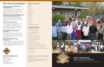 HAI4940 Haiti Annual Report.rd1 - Haiti Outreach