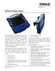 MAHLE Portable Tester - Mahle Powertrain Ltd