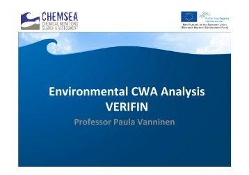 Environmental CWA Analysis - Chemsea