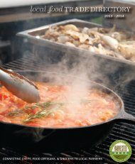 Download the Local Food Trade Directory - Gaining Ground