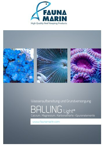 Balling-Light-Methode - Fauna Marin GmbH