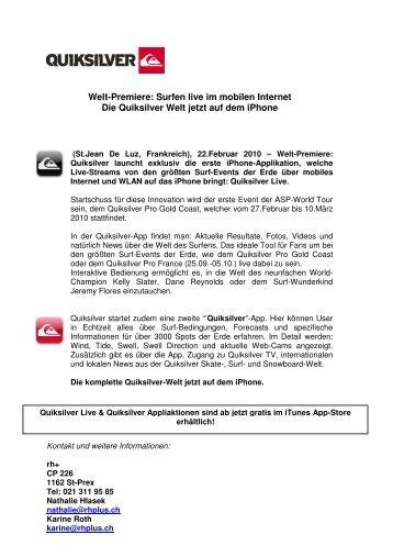 Welt-Premiere: Surfen live im mobilen Internet Die ... - 7sky Magazine
