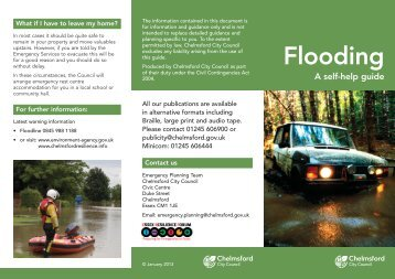 Flooding (Chelmsford) - a self help guide - Chelmsford Borough ...