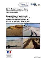Etude de connaissance des phénomènes d'érosion sur le littoral ...