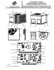 ddyz series - 13 seer single packaged gas/electric air ... - UPGNet