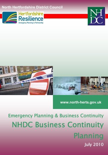 NHDC Business Continuity Planning July 2010 (2.03MB) - North ...