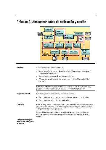 Práctica A: Almacenar datos de aplicación y sesión - Willy .Net