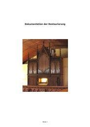 Dokumentation zur Restaurierung der Furtwngler ... - Bente Orgelbau