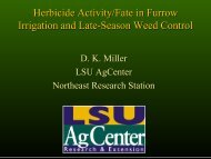 Herbicide Activity/Fate in Furrow Irrigation and Late-Season Weed ...