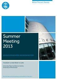 Summer Meeting 2013 - Brit Thoracic