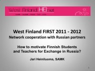 West Finland FIRST Network
