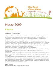 Marzo 2009 - Slow Food